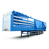 Curtain side semi-trailers