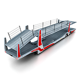 Car transporter semi-trailers