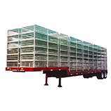 Transport of poultry semi-trailers