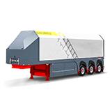 Glass transport semi-trailers