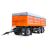 Grain truck trailers
