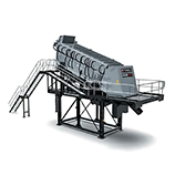 Stationary screening plants