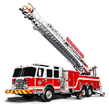 Fire ladders trucks