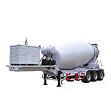 Concrete mixer semi-trailers