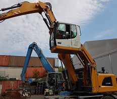Earth-moving machinery, construction machinery Excavators, wheel loaders, levelers