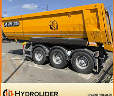 Semi-trailer 27 cubes 3-axle, Body Hardox 450 steel, reinforced
