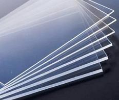 Acrylglas-oder Polycarbonatglas-Platten.