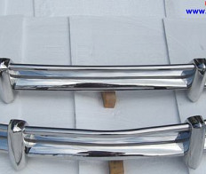 VW Karmann Ghia US type bumper 1967 - 1969 Stainless steel Polished